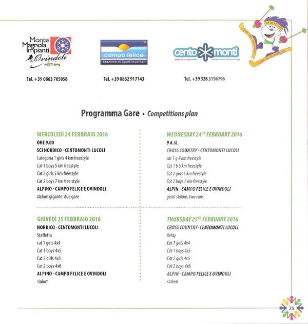Programma-Gare 1